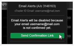 ctrader email alerts