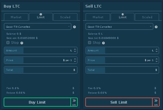 hitbtc buy sell